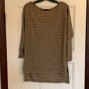 Brown Textured Quarter Sleeve from ZARA